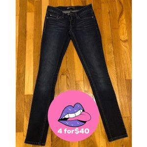 Levi's 524 Too Super Low Dark Denim Skinny Jeans